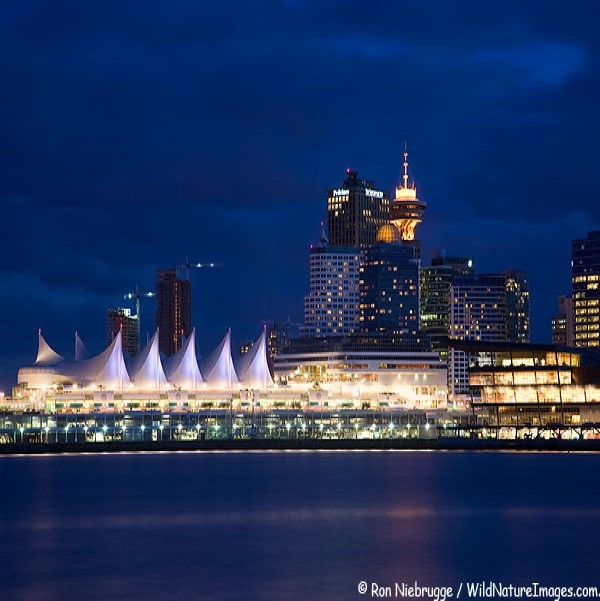 Vancouver Convention Center at night 3
