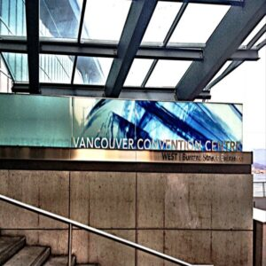 Vancouver Convention Center sign 3