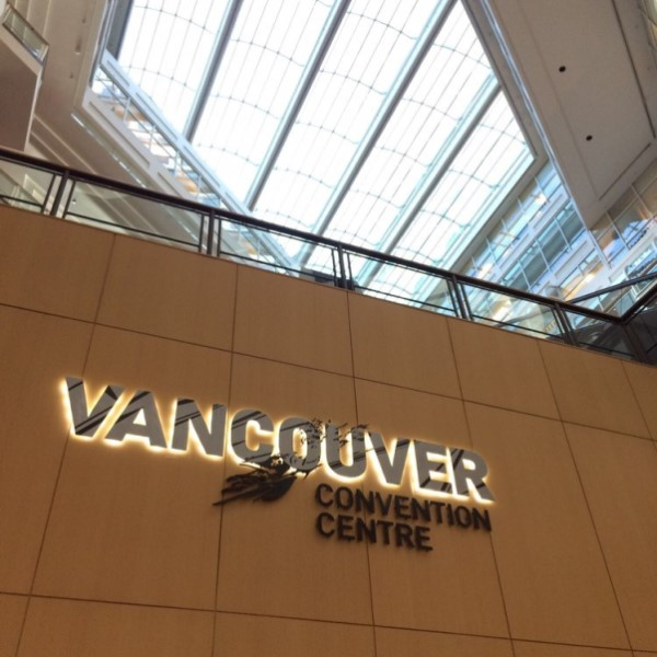 Vancouver Convention Center sign